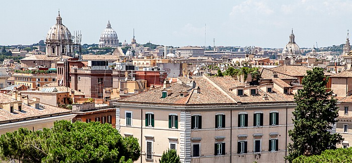 Blick vom Monumento Vittorio Emanuele II: Altstadt Rom