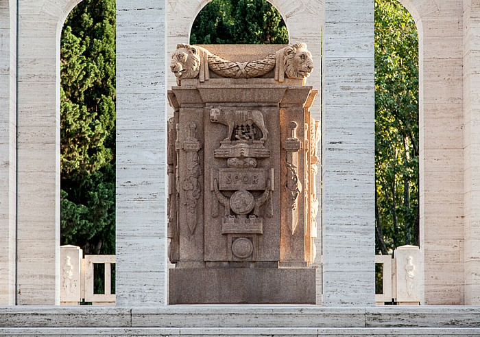 Rom Trastevere: Gianicolo - Mausoleo Ossario Gianicolense