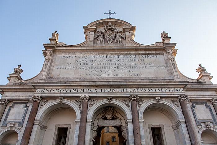 Rom Trastevere: Gianicolo - Fontana dell' Acqua Paola
