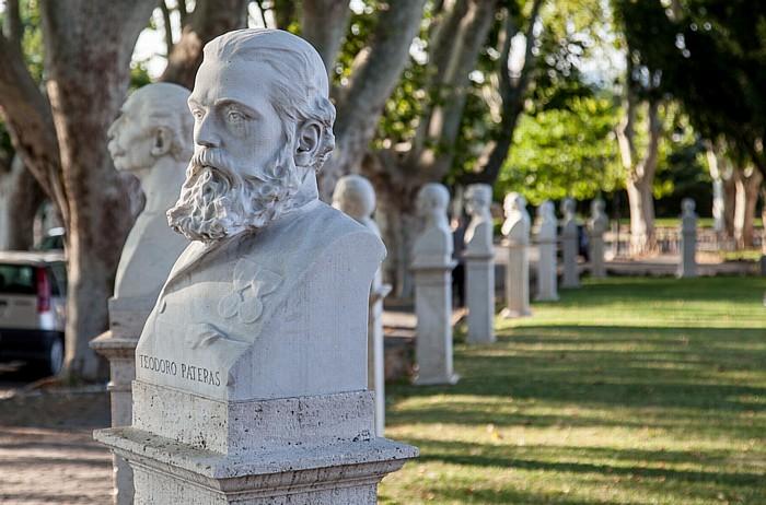 Rom Trastevere: Gianicolo - Büsten italienischer Patrioten