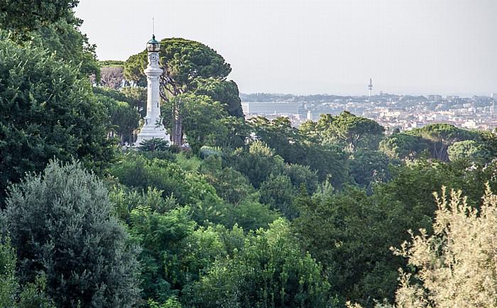 Trastevere: Gianicolo - Leuchtturm (von Manfredo Manfredi) und Orto Botanico di Roma