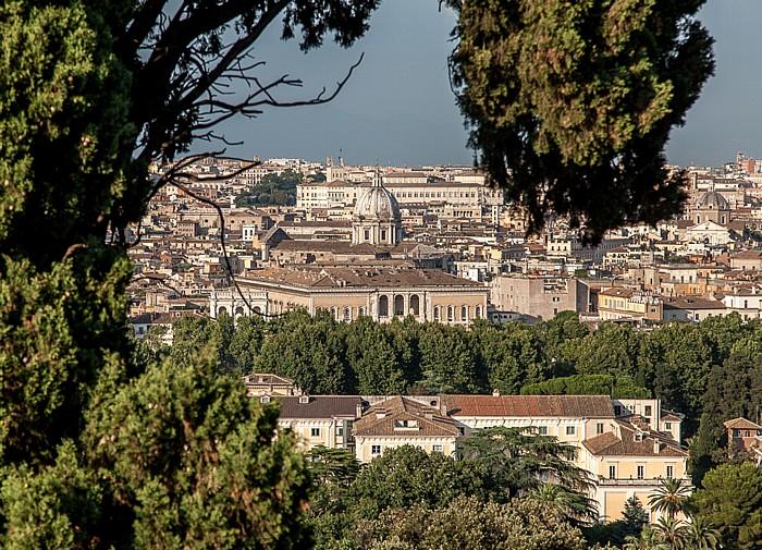 Rom Trastevere: Blick vom Gianicolo auf das Centro Storico Palazzo del Quirinale Sant' Andrea della Valle