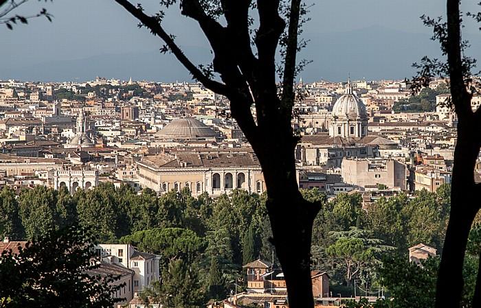 Rom Trastevere: Blick vom Gianicolo auf das Centro Storico Pantheon Sant' Andrea della Valle