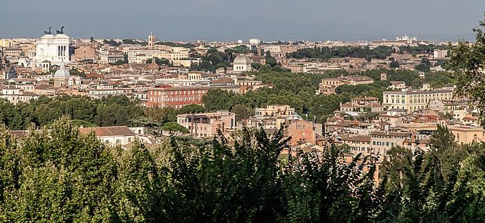 Rom Trastevere: Blick vom Gianicolo auf das Centro Storico mit dem Monumento a Vittorio Emanuele II Monumento Vittorio Emanuele II