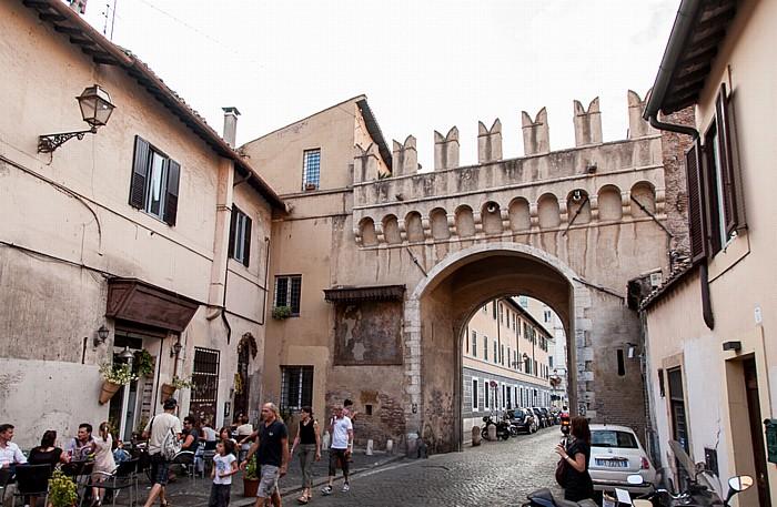 Rom Trastevere: Via di Porta Settimiana, Porta Settimiana