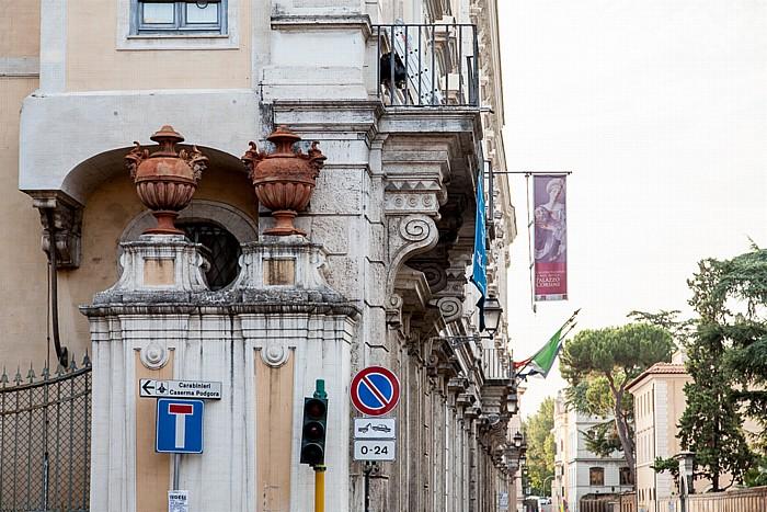 Rom Trastevere: Via di Porta Settimiana - Palazzo Corsini