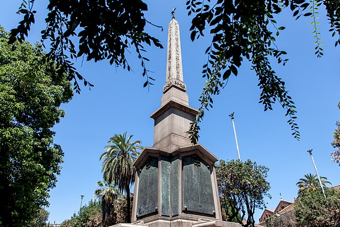 Castro Pretorio: Park an der Viale delle Terme di Diocleziano - Obelisco di Dogali Rom