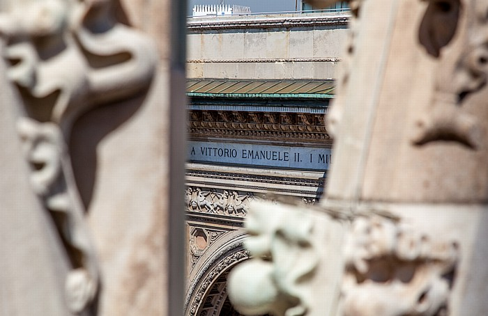 Mailand Blick vom Mailänder Dom (Duomo di Santa Maria Nascente): Galleria Vittorio Emanuele II