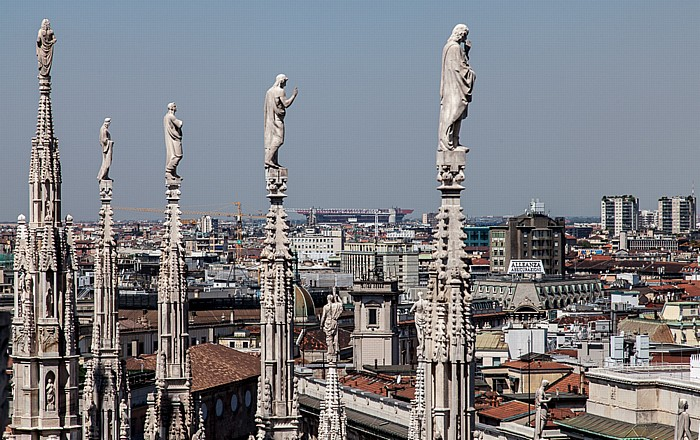 Mailand Blick vom Mailänder Dom (Duomo di Santa Maria Nascente) Giuseppe-Meazza-Stadion