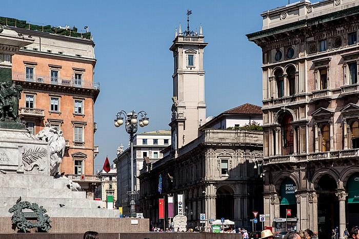 Mailand Piazza Mercanti: Palazzo dei Giureconsulti Piazza del Duomo