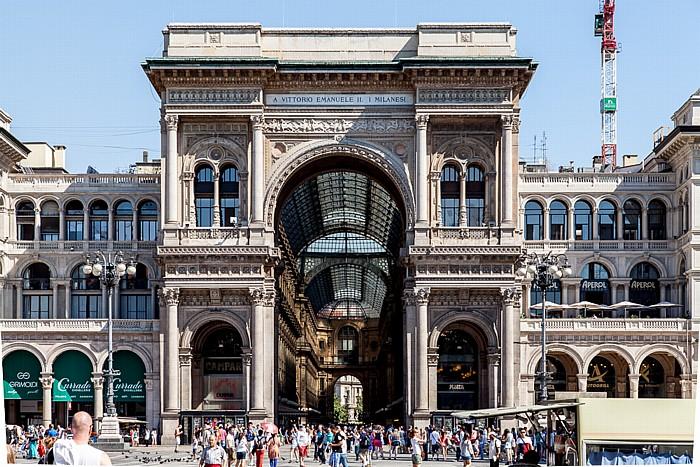 Mailand Piazza del Duomo: Galleria Vittorio Emanuele II Palazzo dei Portici Settentrionali