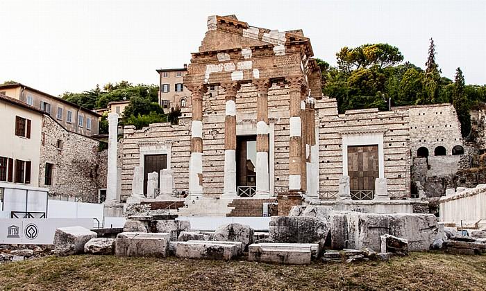 Brescia Centro Storico (Quartiere Antica): Piazza del Foro - Capitolium (Tempio Capitolino)