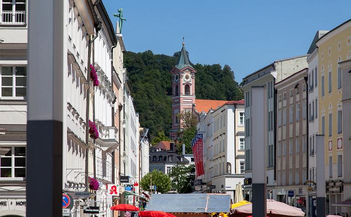 Passau Altstadt: Ludwigstraße, Stadtpfarrkirche St. Paul St. Georgsberg