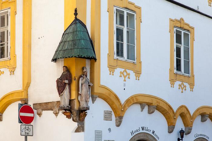Passau Altstadt: Wilder Mann (Hotel Wilder Mann, Glasmuseum)
