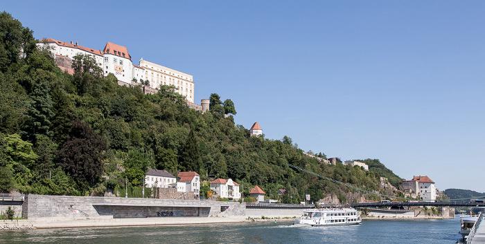 Passau St. Georgsberg: Veste Oberhaus Luitpoldbrücke Veste Niederhaus