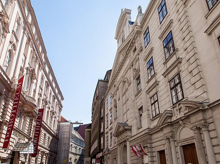 Wien Innere Stadt: Dorotheergasse - Lutherische Stadtkirche