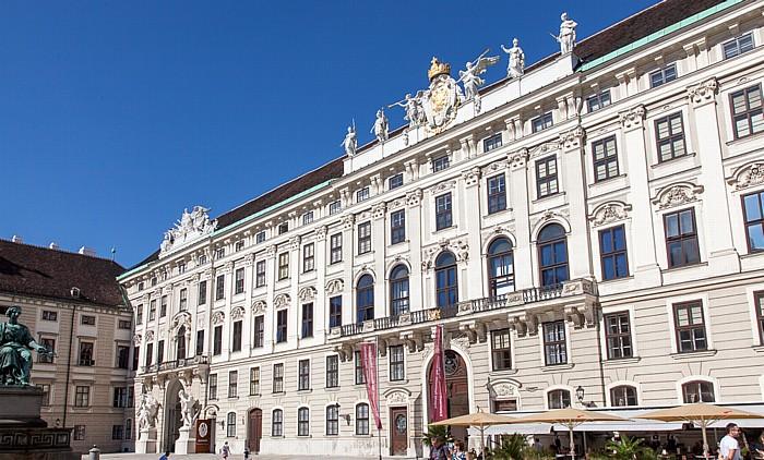 Wien Innere Stadt: Hofburg - In der Burg (Franzensplatz, Innerer Burgplatz), Reichskanzleitrakt