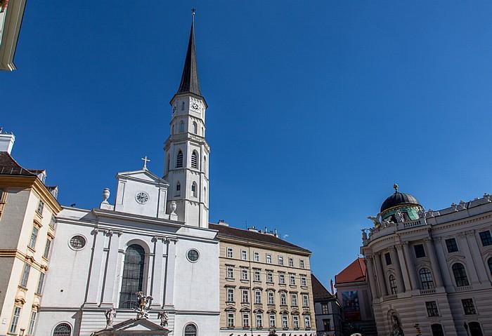 Wien Innere Stadt: Michaelerplatz - Michaelerkirche