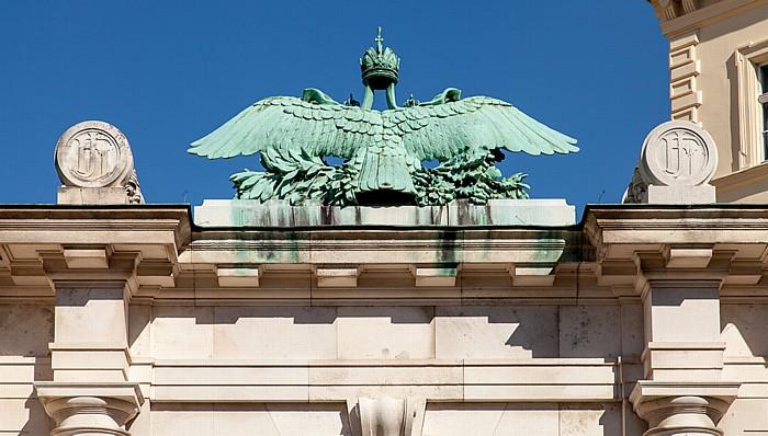 Wien Innere Stadt: Hofburg - Eingang zum Burggarten