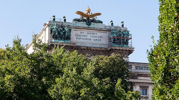 Wien Innere Stadt: Hofburg - Burggarten, Neue Burg