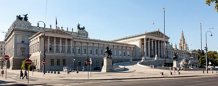 Innere Stadt: Wiener Ringstraße (Doktor-Karl-Renner-Ring), Parlamentsgebäude Dr.-Karl-Renner-Ring Wiener Rathaus