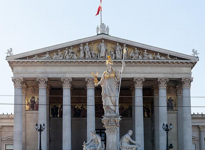 Wien Innere Stadt: Parlamentsgebäude, Pallas-Athene-Brunnen