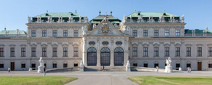 Schlossanlage Belvedere: Oberes Belvedere, Belvederegarten Wien