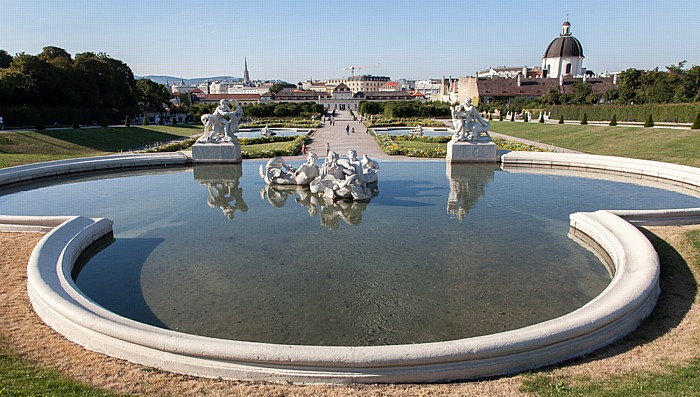 Schlossanlage Belvedere: Belvederegarten Wien