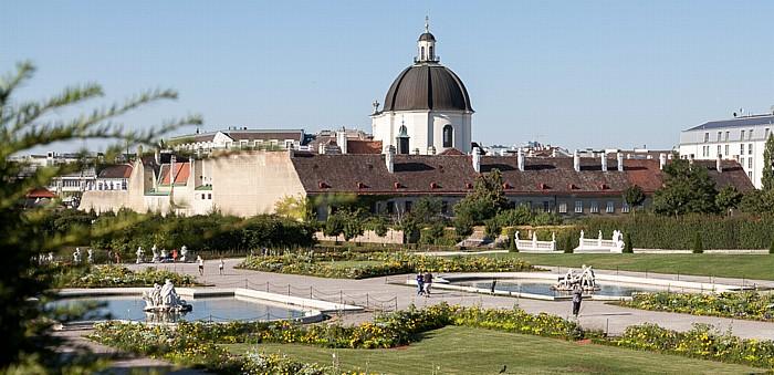 Wien Schlossanlage Belvedere: Belvederegarten, Salesianerkloster