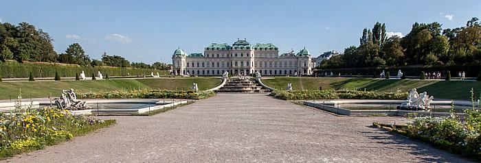 Wien Schlossanlage Belvedere: Belvederegarten, Oberes Belvedere