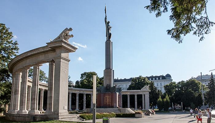 Schwarzenbergplatz: Heldendenkmal der Roten Armee (Russendenkmal, Befreiungsdenkmal) Wien