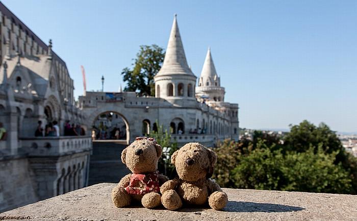 Budapest Burgberg: Fischerbastei (Halászbástya) - Teddine und Teddy