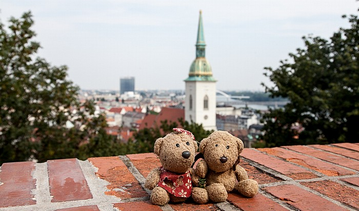 Burg Bratislava (Bratislavsky hrad): Teddine und Teddy Altstadt Martinsdom