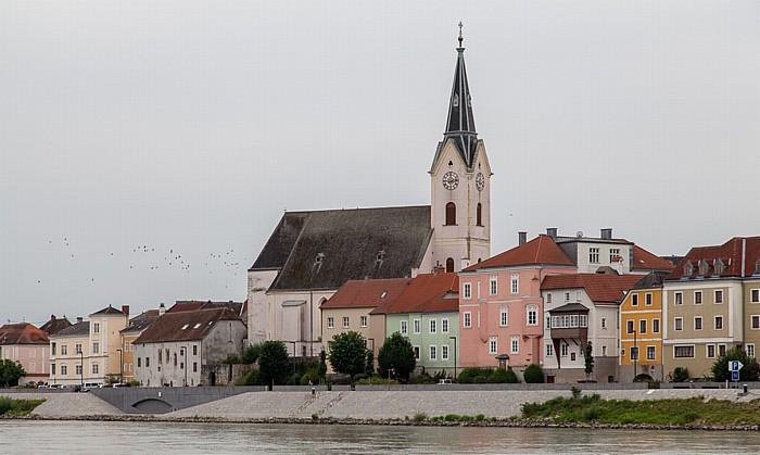 Ybbs an der Donau Altstadt mit der Pfarrkirche St. Lorenz