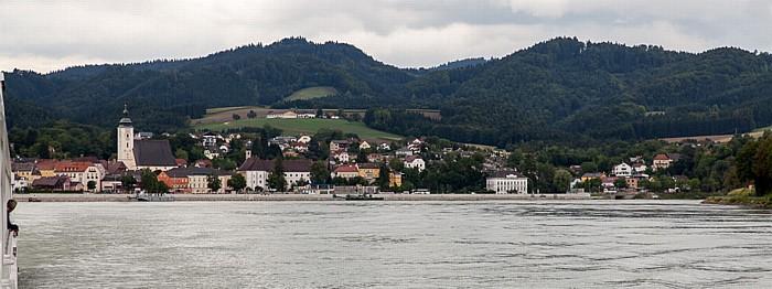 Grein Donau, Alstadt mit der Pfarrkirche St. Ägidius