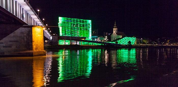 Linz Nibelungenbrücke, Donau, Ars Electronica Center, Stadtpfarrkirche Uhrfahr