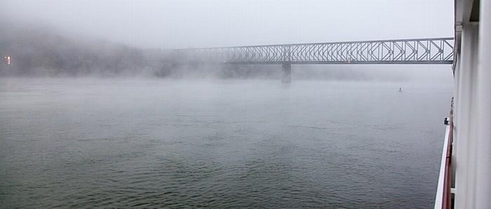Passau Donau, Kräutlsteinbrücke (stillgelegte Eisenbahnbrücke)
