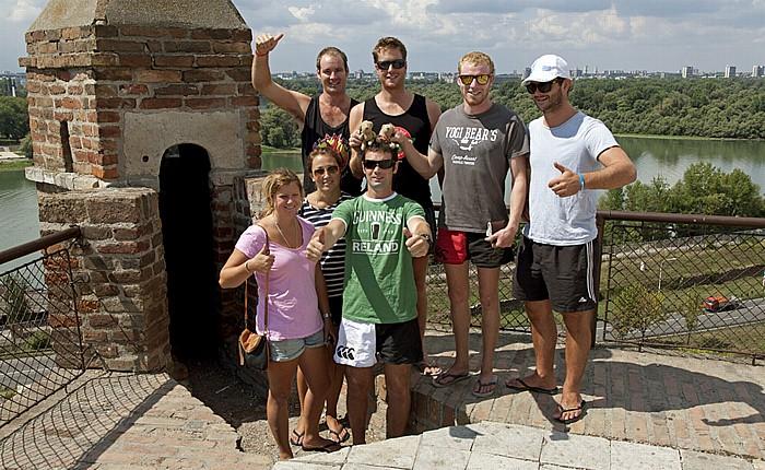 Festung von Belgrad: Kalemegdan - Teddy und Teddine mit Fans