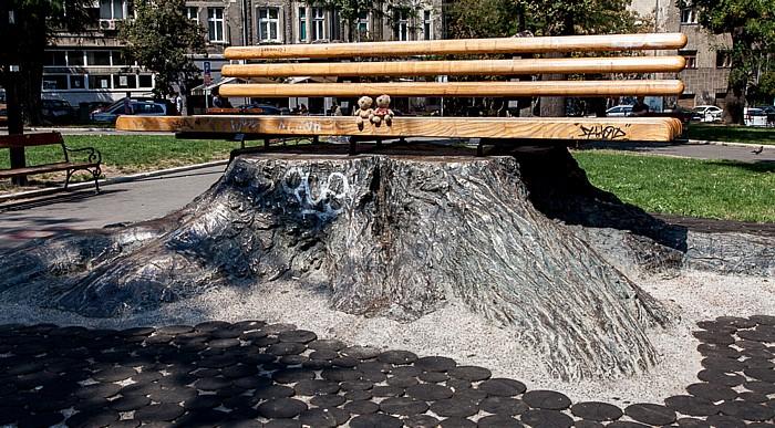 Belgrad Universitätspark (Univerzitetski park): Teddy und Teddine