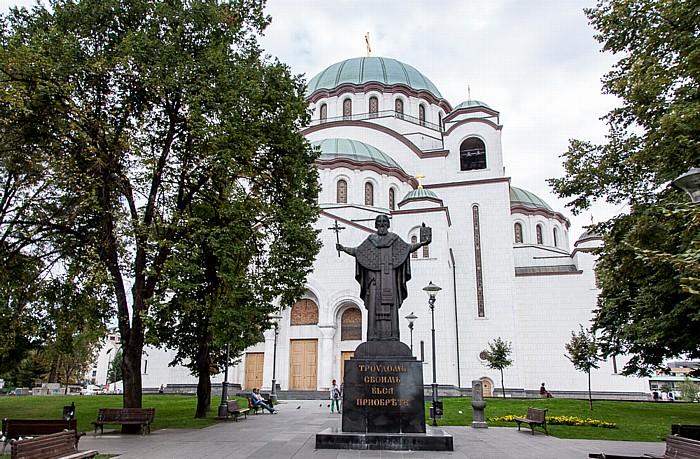 Belgrad Dom des Heiligen Sava, Statue des Heiligen Sava