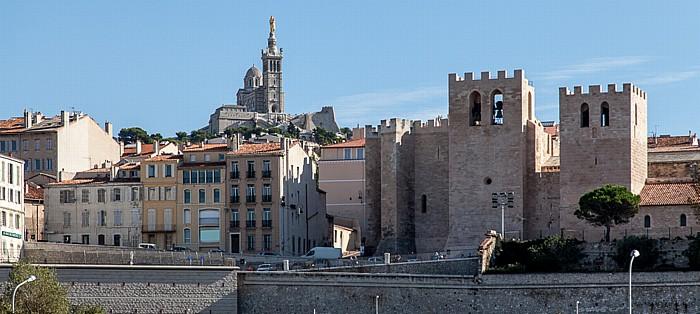 Marseille La Garde mit der Basilique Notre-Dame-de-la-Garde Abtei Saint-Victor de Marseille