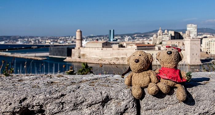 Marseille Fort Saint-Nicolas: Teddy und Teddine Avant-port Joliette Fort Saint-Jean Golfe du Lion