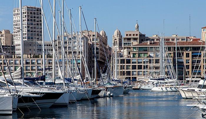 Marseille Alter Hafen (Vieux-Port) Cathédrale Sainte-Marie-Majeure