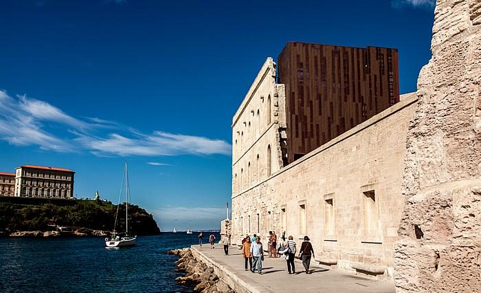 Marseille Fort Saint-Jean (MuCEM, Musée des Civilisations de l'Europe et de la Méditerranée) Avant-port Joliette Golfe du Lion Palais du Pharo