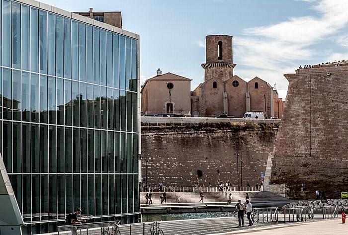Villa Méditerranée, Église Saint-Laurent de Marseille, Fort Saint-Jean