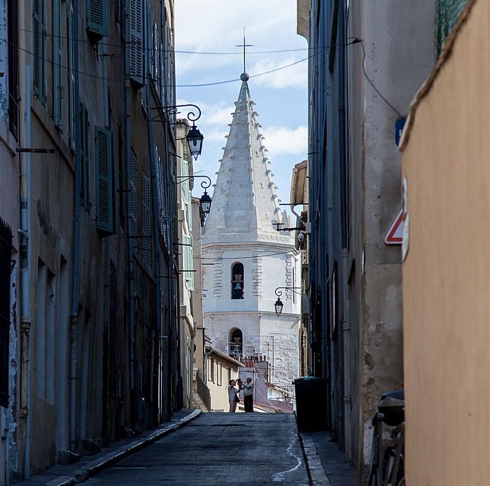 Marseille Le Panier: Montée des Accoules, Église Notre-Dame-des-Accoules