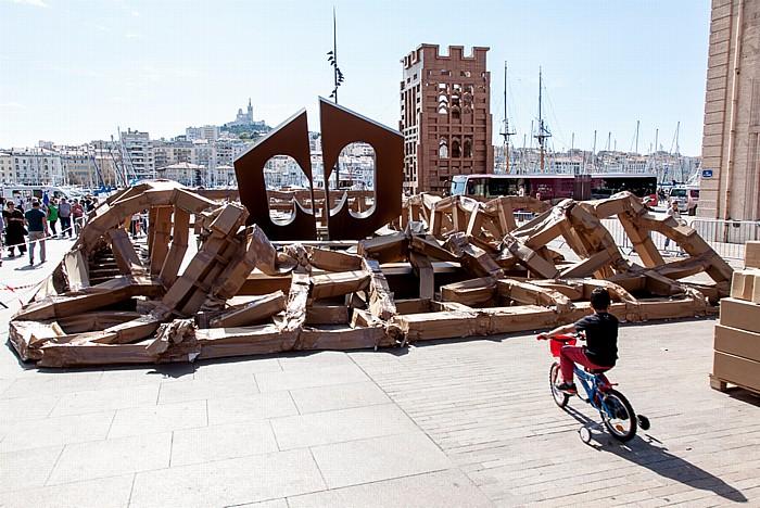 Marseille Place Villeneuve-Bargemon / Quai du Port Alter Hafen Basilique Notre-Dame-de-la-Garde