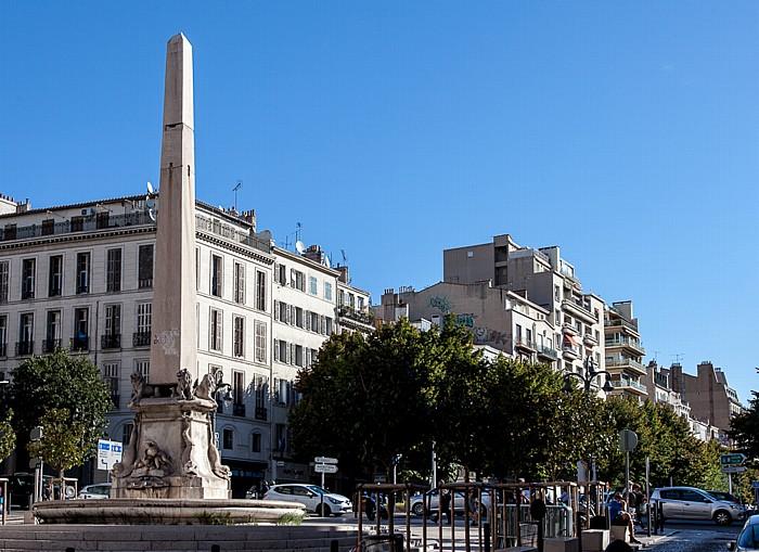 Marseille Place des Capucines: Fontaine Fossati
