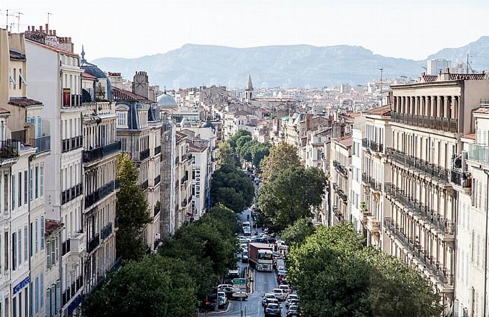 Blick vom Gare de Marseille-Saint-Charles: Boulevard d'Athènes