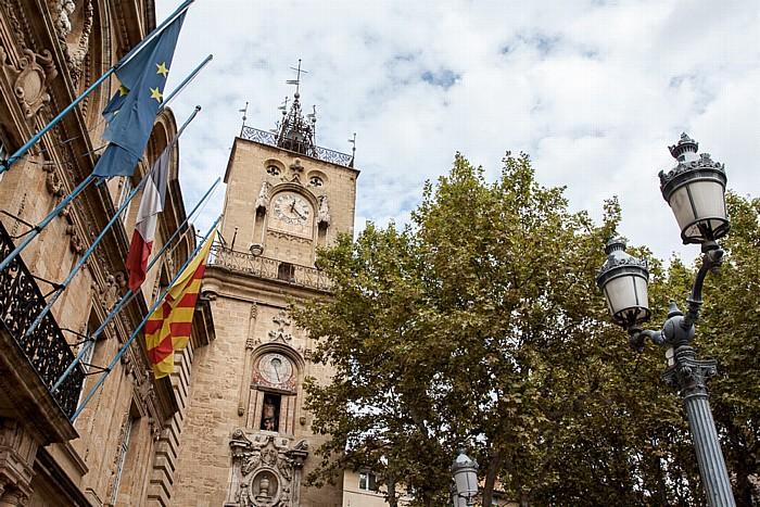 Aix-en-Provence Altstadt: Place de l'Hôtel-de-Ville - Hôtel de Ville